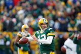 Green Bay Packers and New York Giants: Aaron Rodgers Photographic Print by Jeffrey Phelps