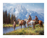 River's Edge Print by Martin Grelle