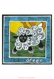 Whimsical Sheep Poster