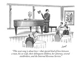 """This next song is about love - that special kind of love between a man..."" - New Yorker Cartoon Premium Giclee Print by Tom Cheney"
