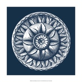 Classic Medallion on Navy III Giclee Print