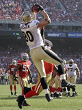 San Francisco 49ers and New Orleans Saints: Jimmy Graham and Patrick Willis Photographic Print by Paul Sakuma