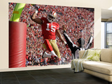 San Francisco 49ers and New Orleans Saints: Michael Crabtree Wall Mural – Large by Ben Margot