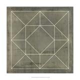 Geometric Blueprint VIII Impression giclée