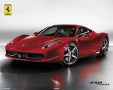 Ferrari 458 Italia - Poster