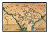 Underground Railroad Map Giclee Print