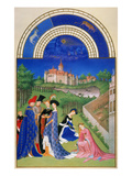 Tres Riches Heures: April Giclee Print