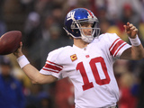 Baltimore Ravens and New England Patriots - Jan. 22, 2012: Eli Manning Prints by Marcio Jose Sanchez