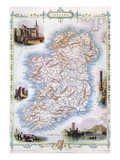 Map: Ireland, 1851 Giclee Print