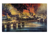 Fall Of Richmond, 1865 Giclee Print by Currier & Ives