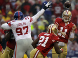 New York Giants and San Francisco 49ers - Jan. 22, 2012: Alex Smith Photo by Julie Jacobson
