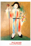 Le Petit Pierrot aux Fleurs Lminas por Pablo Picasso