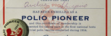 Polio Certificate, 1954 Photographic Print