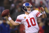 New York Giants and San Francisco 49ers - Jan. 22, 2012: Eli Manning Photographic Print by Marcio Jose Sanchez
