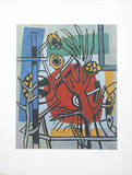 Tree Against a Red Background Collectable Print by Fernand Leger