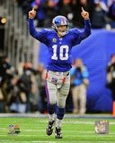 Eli Manning 2011 NFC Wild Card Playoff Action Photo