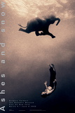Gregory Swimming with Elephant, New York Kunstdrucke von Gregory Colbert