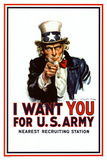 I Want You - Uncle Sam Psteres