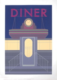 Diner Serigraph by Perry King