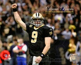 Drew Brees Sets the NFL Single-Season Passing Yards Record with Overlay Photo