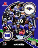 Baltimore Ravens 2011 AFC North Division Champions Team Composite Photo