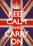 Keep Calm & Carry On - Union Jack Fotografia
