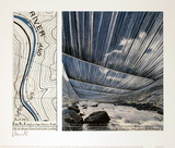 Over the River, project for the Arkansas River Samlartryck av  Christo