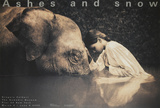 Girl with Elephant Poster van Gregory Colbert