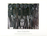 New Orleans Jazz Band Julisteet tekijänä Jean Dubuffet