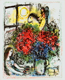 La Chevauchee Art by Marc Chagall