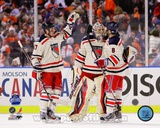 Henrik Lundqvist, Brandon Dubinsky, &amp; Brandon Prust 2012 NHL Winter Classic Action Photo