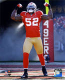 Patrick Willis NFC Divisional Playoff Game Action Photo