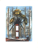 Sunflowers Serigraph by Bernard Buffet