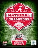 University of Alabama Crimson Tide 2012 BCS National Champions Team Logo Photo