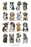 Kimberlin-Puppies Head Phones Posters
