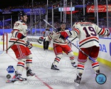 Brad Richards, Brandon Dubinsky, & Ryan Callahan 2012 NHL Winter Classic Action Photo