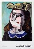 La Femme a la Collerette Bleue Prints by Pablo Picasso