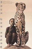 Child with Cheetah, Santa Monica Plakater av Gregory Colbert