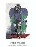 Femme Assise A L'echarpe Verde, c.1960 Arte por Pablo Picasso