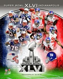 SuperBowl XLVI Match Up Composite Fotografía
