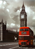 Rode dubbeldekker in Londen Posters