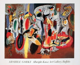 The Liver is the Cock's Comb Affiches par Arshile Gorky