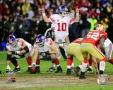 Eli Manning NFC Championship Game Action Photo