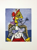 Femme a L&#39;Oiseau (Dora Maar) Collectable Print by Pablo Picasso