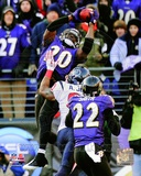 Ed Reed Interception AFC Divisional Playoff Game Action Photo