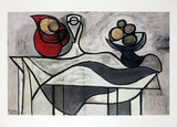 Pitcher and Bowl of Fruit Print by Pablo Picasso