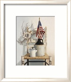 Chair with Jug and Flag Framed Giclee Print by Cecile Baird