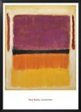 Sin título (violeta, negro, naranja, amarillo sobre blanco y rojo), 1949 Póster por Mark Rothko