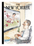 The Big Game - The New Yorker Cover, February 6, 2012 Regular Giclee Print by Barry Blitt