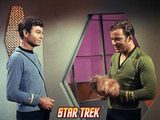 "Star Trek: The Original Series, Dr. McCoy and Captain Kirk in ""The Trouble with Tribbles"" Photo"